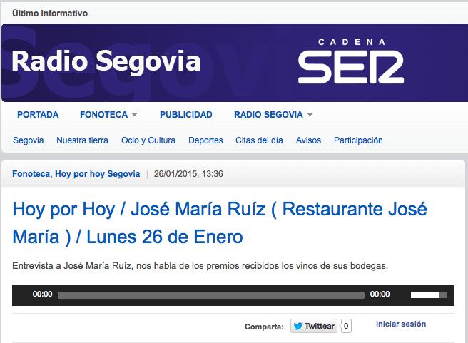 José María Ruiz en Hoy por Hoy de la SER