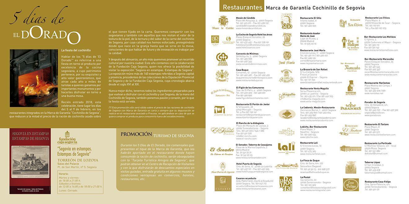 Los Cinco Días de 'El dorado' 2018: cochinillo de Segovia
