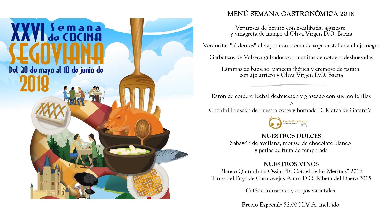 XXVI Semana de la Cocina Segoviana 2018 en el Restaurante José María