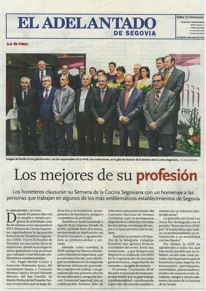 El restaurante José María recibe el premio cocinando por la AIHS