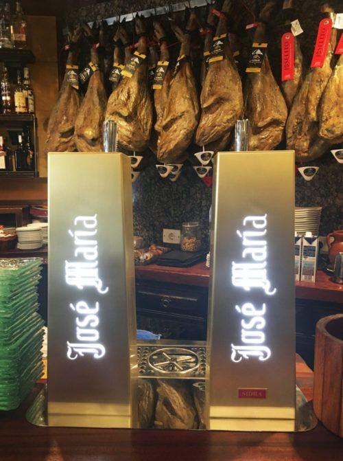 ¿Os habéis fijado en los nuevos grifos del restaurante José María?